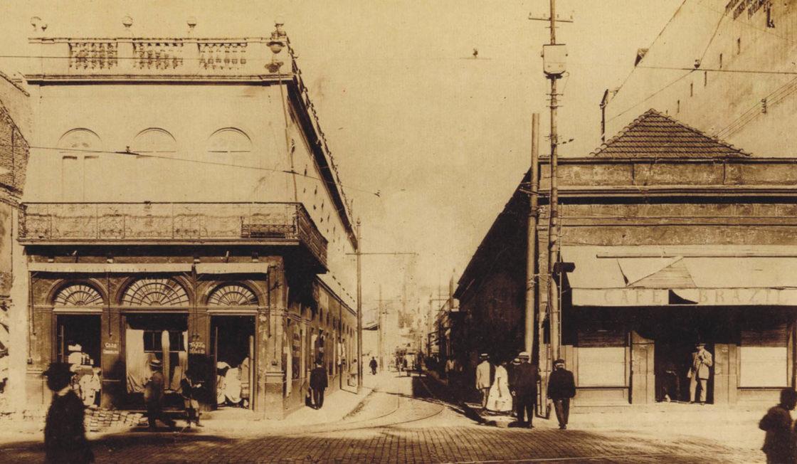 O Beco do Rosário na década de 1920.