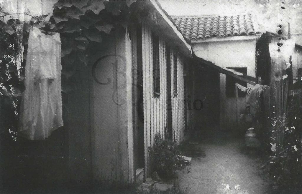 """Peças numa avenida do Areal da Baronesa. Acervo Dorvalina Fialho. In: SANTOS, Irene. """"Colonos e Quilombolas"""", 2010, p. 45."""