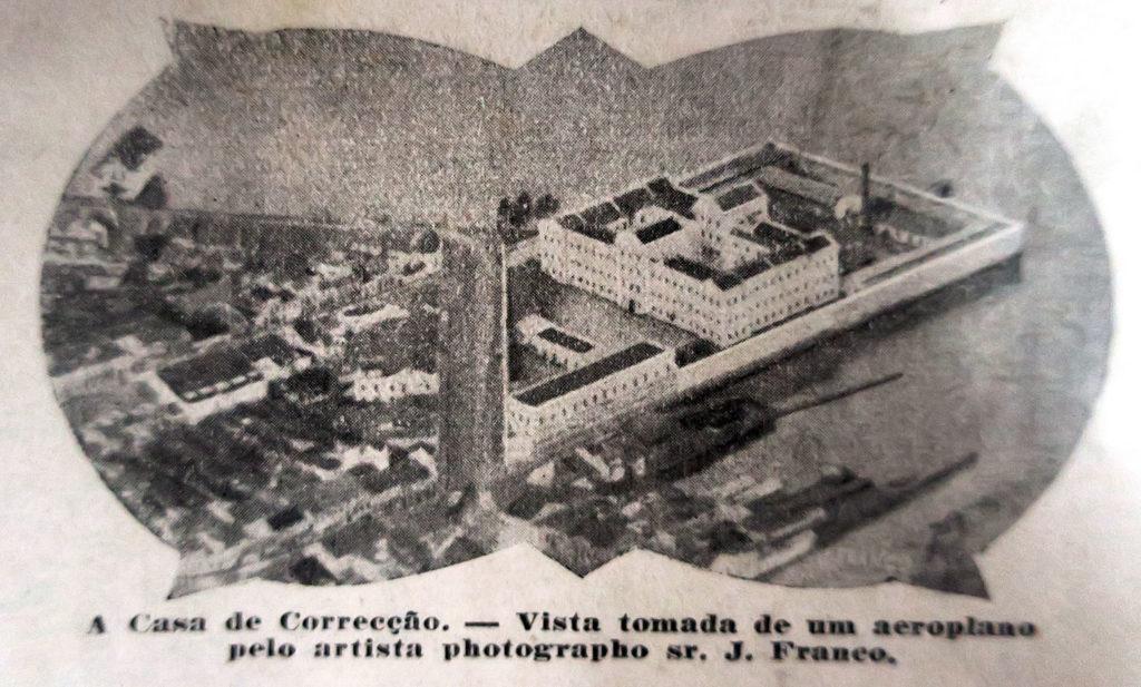 "Vista aérea da Ponta da Cadeia na Revista ""A Máscara"" de outubro de 1925, p. 51."