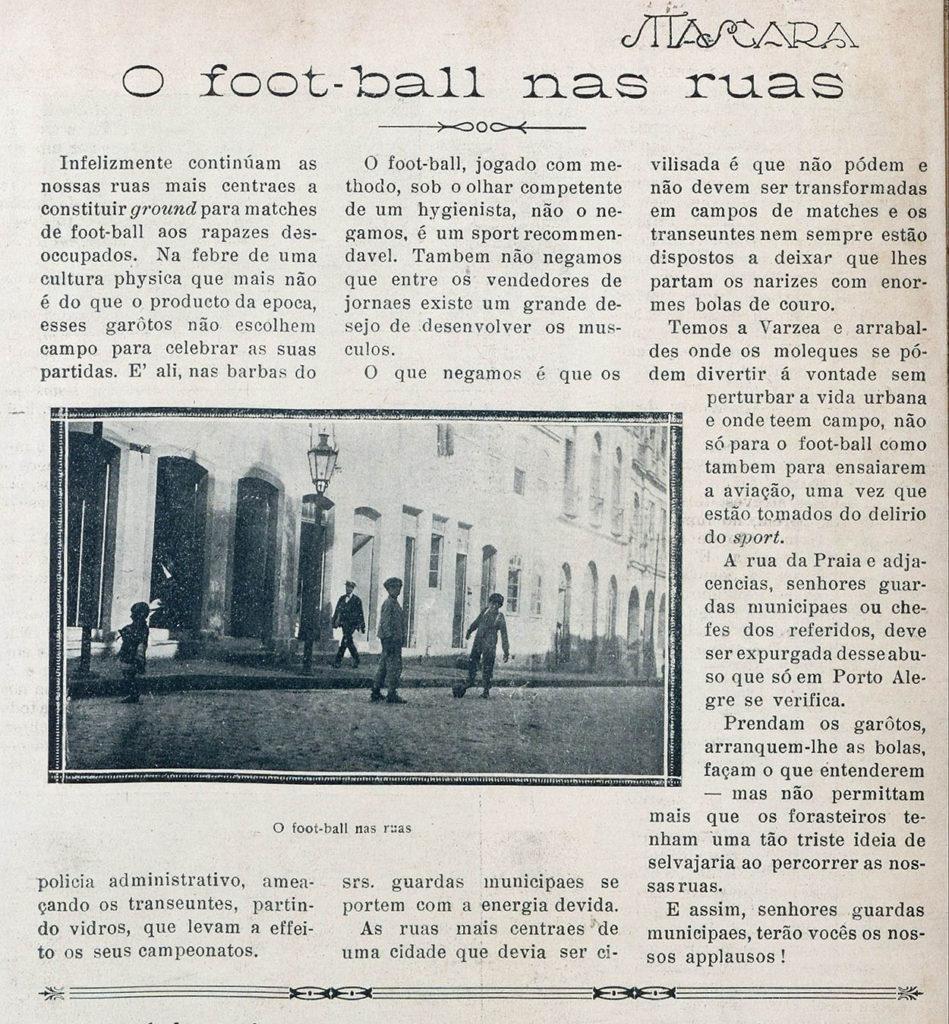 """A Mascara"", BNDigital, 1920, Ed00013, p. 23. Detalhe da crônica."