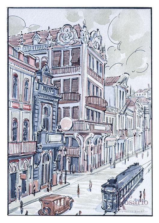 A confeitaria Central na história em quadrinhos.