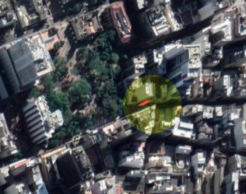 Foto de satélite do Largos dos Medeiros