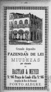 A antiga sede da Casa Carvalho no Anuário da Provincia do RS, 1885, p. 281.