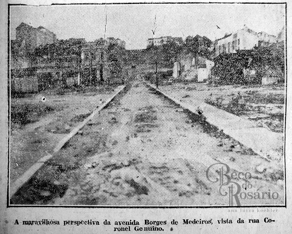 Obras na Borges de Medeiros. Correio do Povo, 07/07/1927. Hemeroteca do Museu de Comunicação Social Hipólito José da Costa.