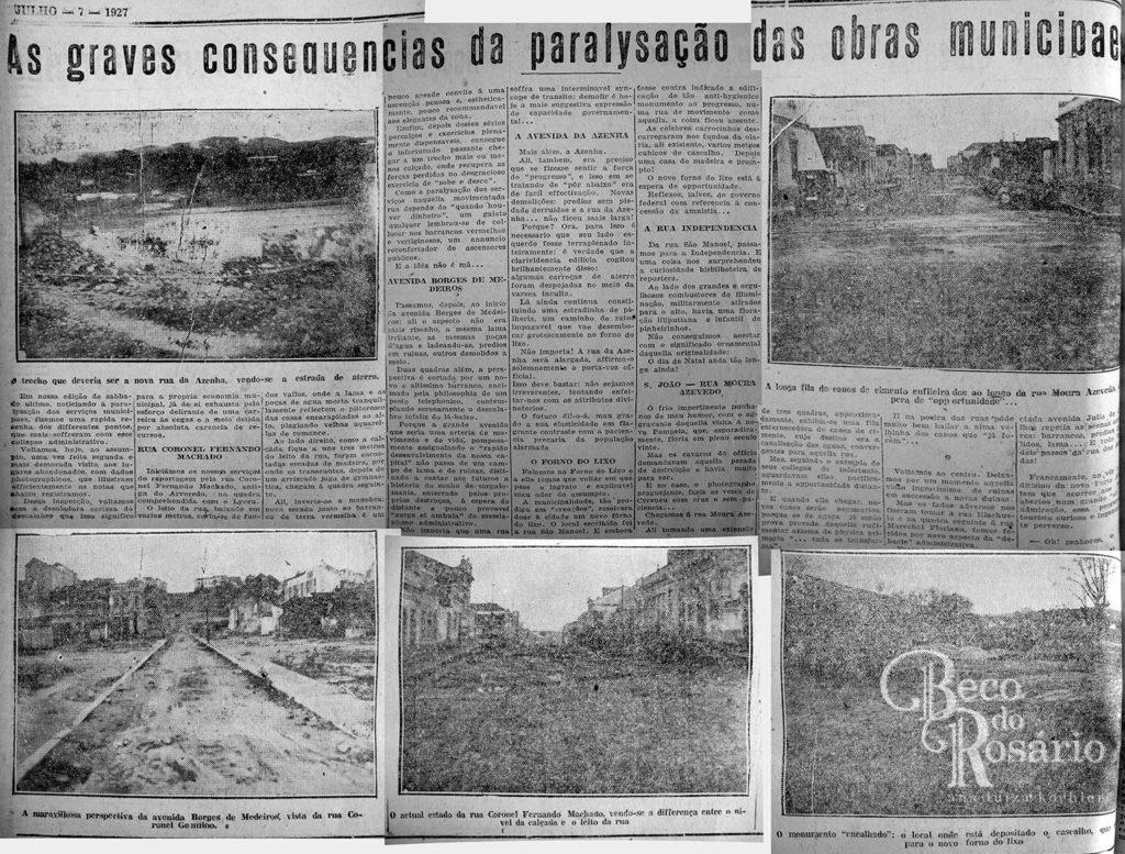 Correio do Povo, 07/07/1927. Hemeroteca do Museu de Comunicação Social Hipólito José da Costa. A grafia original foi mantida.