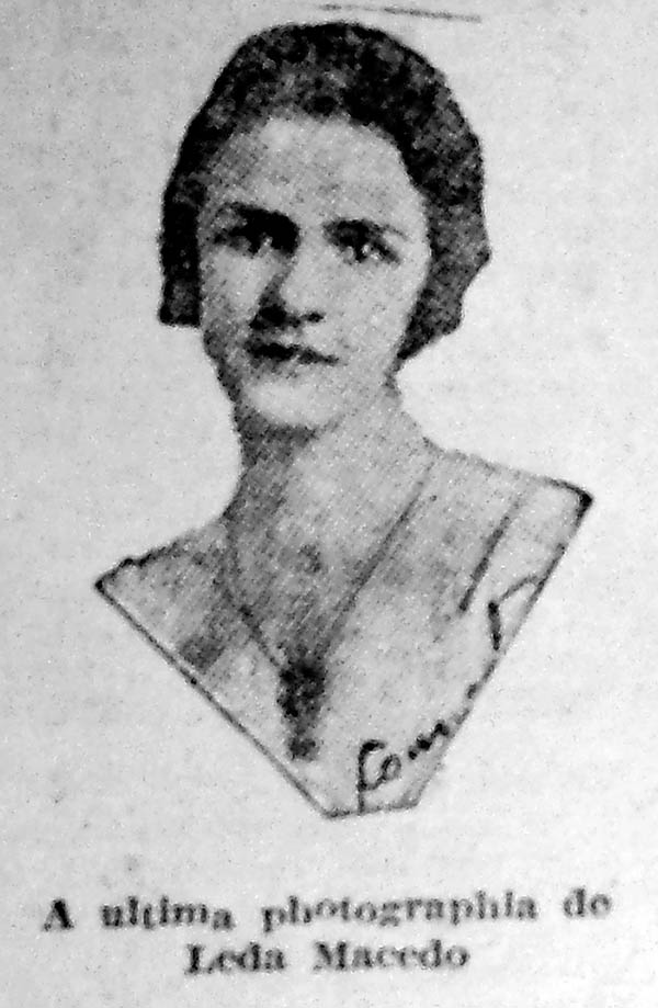 Leda Macedo. Correio do Povo, 08/01/1929, p. 7. Hemeroteca do Arquivo Histórico Municipal Moysés Vellinho de Porto Alegre.