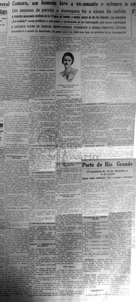 Correio do Povo, 08/01/1929, p. 7. Hemeroteca do Arquivo Histórico Municipal Moysés Vellinho de Porto Alegre