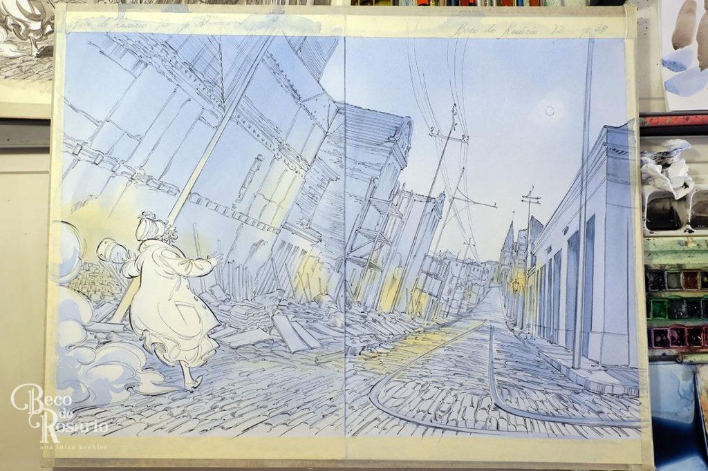 Colorização das splash pages 38 e 39, parte 2.