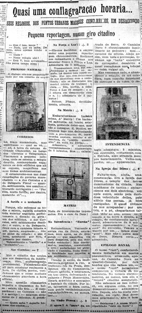 Correio do Povo, 18/07/1925, s/p. Hemeroteca do Museu de Comunicação Social Hipólito José da Costa.