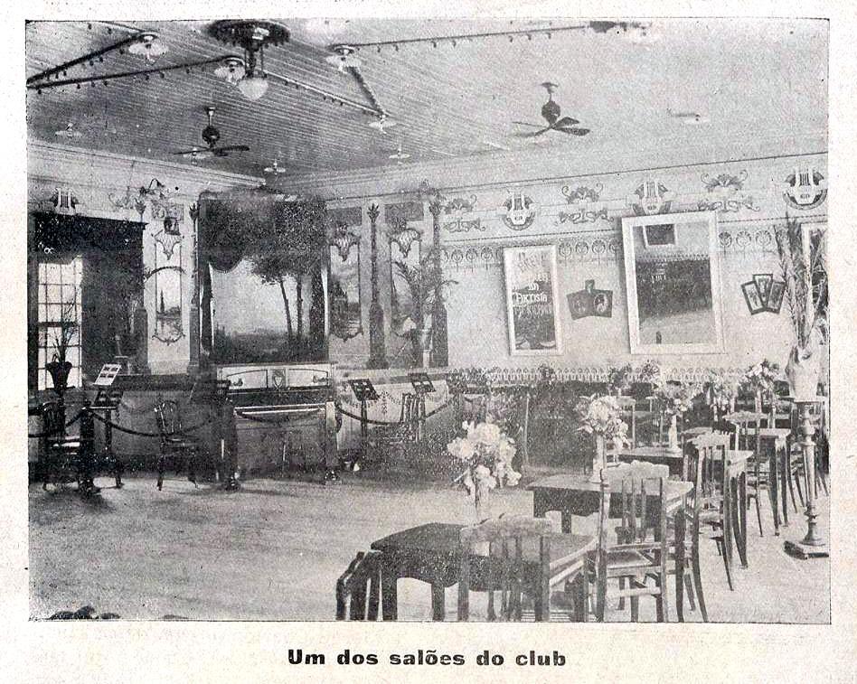 A Máscara, Edição 0001, 1918, Num. I. Palco do Club dos Caçadores, p. 39. Hemeroteca da BN Digital.