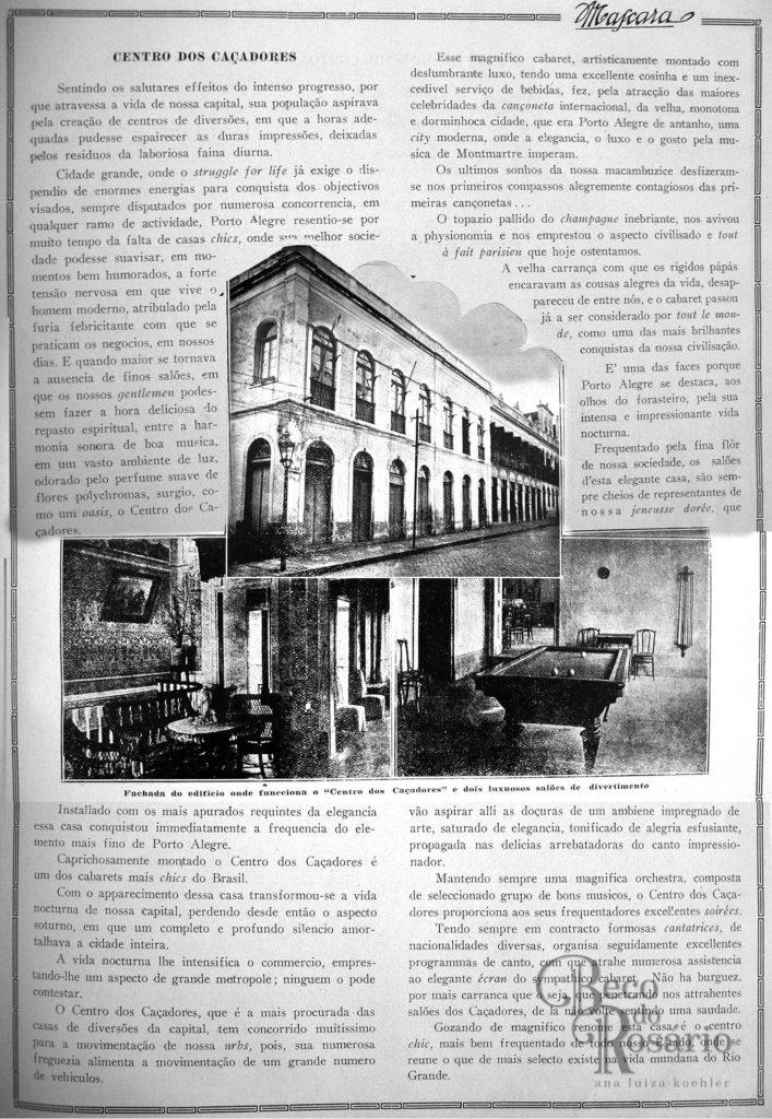 A Máscara, Número Comemorativo do Centenário da Independência, 1922. O Centro dos Caçadores.