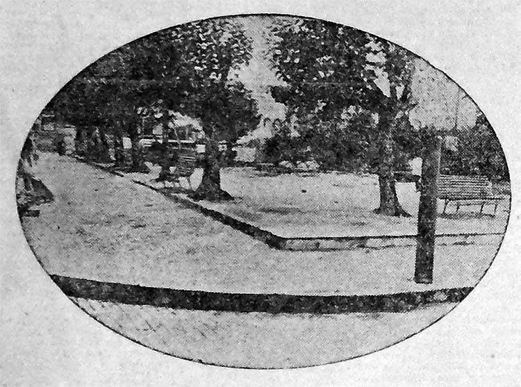 Os jardins e as praças...detalhe. Correio do Povo, 10/03/1929, AHMMV.