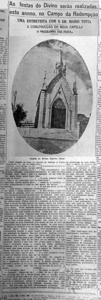 Correio do Povo, 26/03/1929, Hemeroteca do AHMMV.