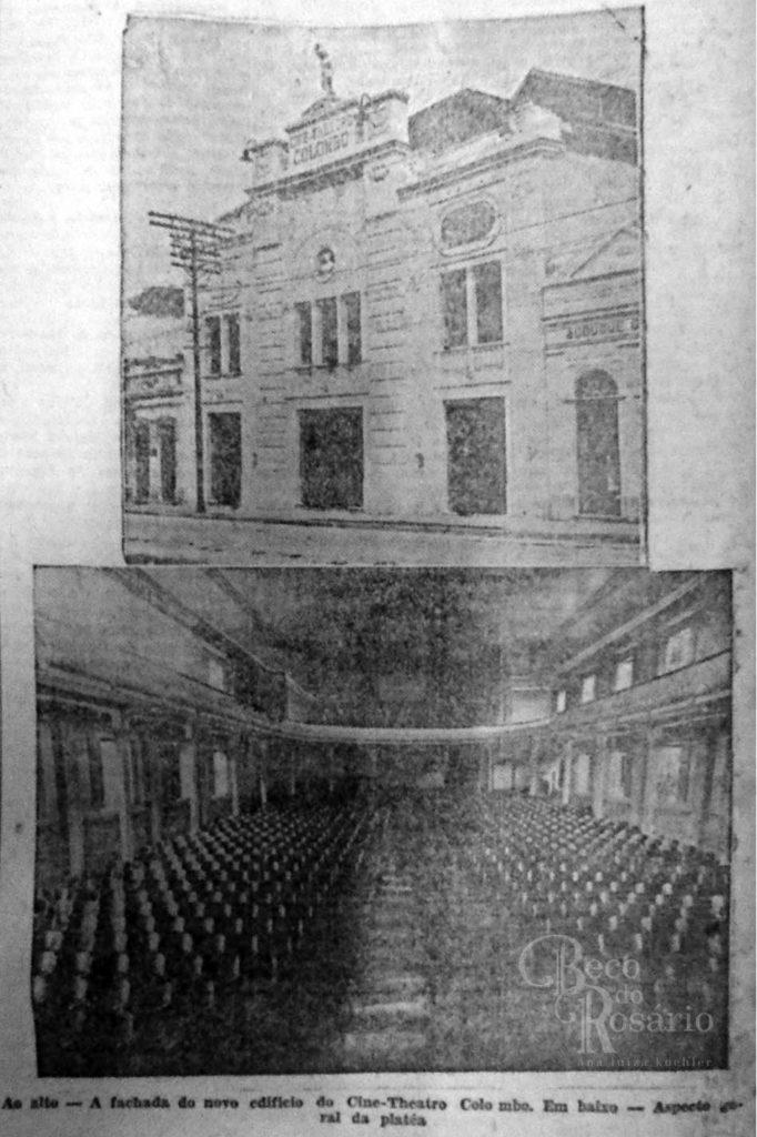 O Cine-Theatro Colombo. Correio do Povo, 06/03/1929, AHMMV.