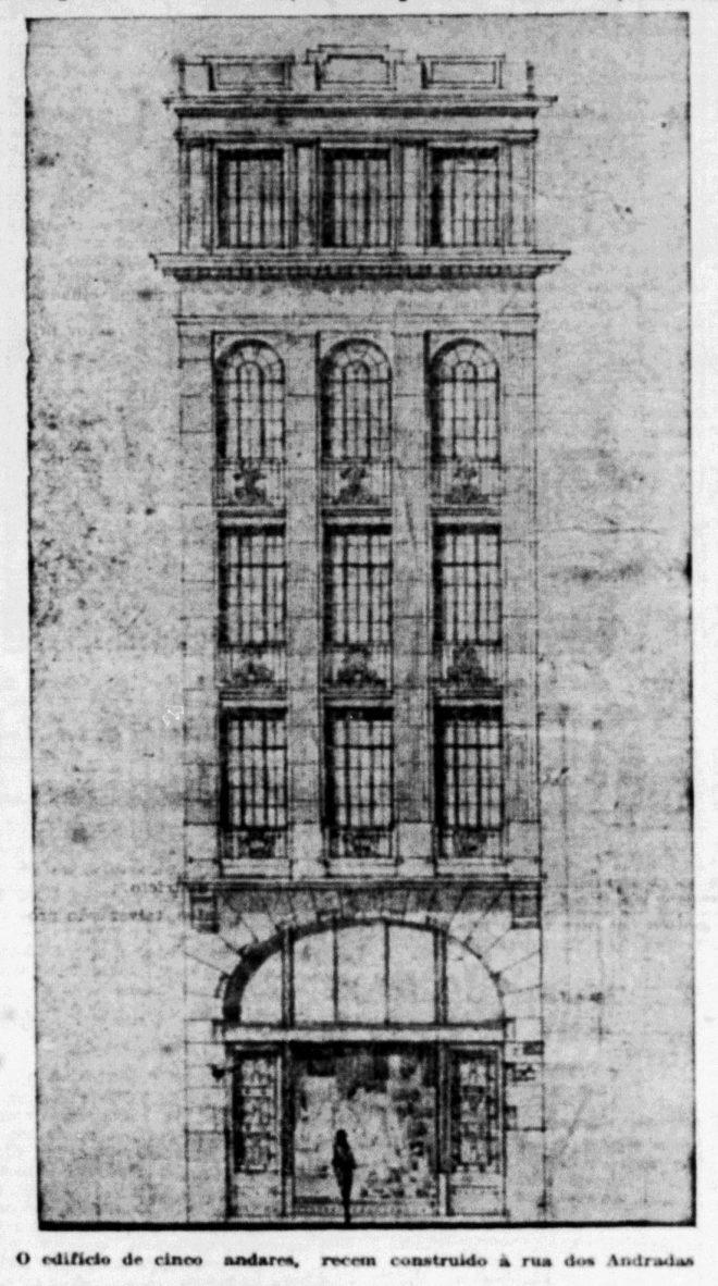 Estado do Rio Grande, 30/05/1930, p. 6. Hemeroteca digital da Biblioteca Nacional. Fachada.