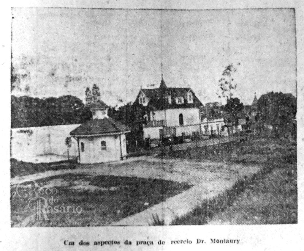 Praça José Montaury em 1928. Correio do Povo, 30/12/1928. Hemeroteca do AHMMV.