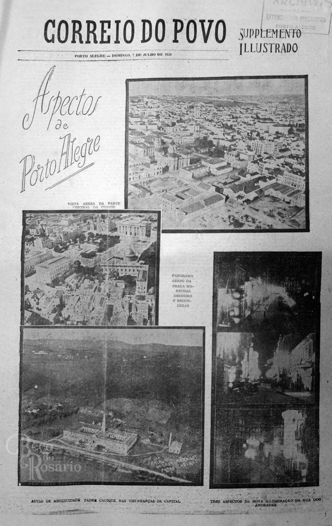 """Aspectos de Porto Alegre"" 9 Supplemento Illustrado. Correio do Povo, 7/7/1929. Hemeroteca do AHMMV."
