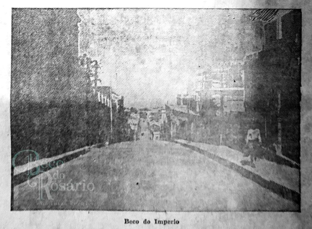 """""""Beco do Império"""". Correio do Povo, 21/4/1929, p. 11. Hemeroteca do AHMMV."""