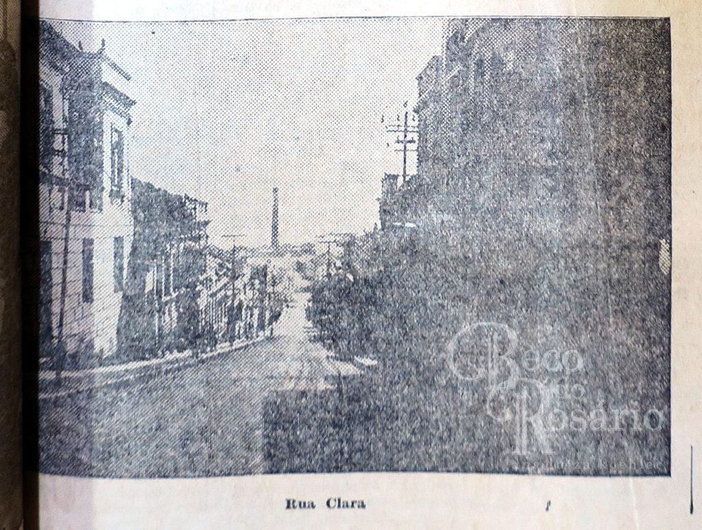 """""""Rua Clara"""", ou General João Manoel. Correio do Povo, 21/4/1929, p. 11. Hemeroteca do AHMMV."""