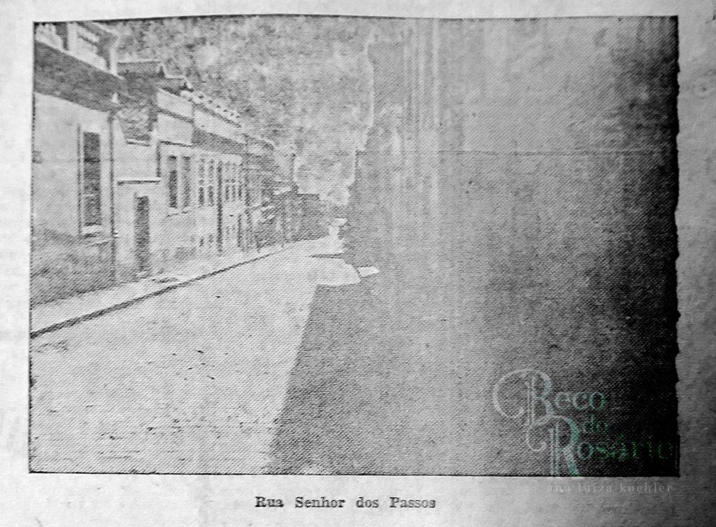 """""""Rua Senhor dos Passos"""". Correio do Povo, 21/4/1929, p. 11. Hemeroteca do AHMMV."""