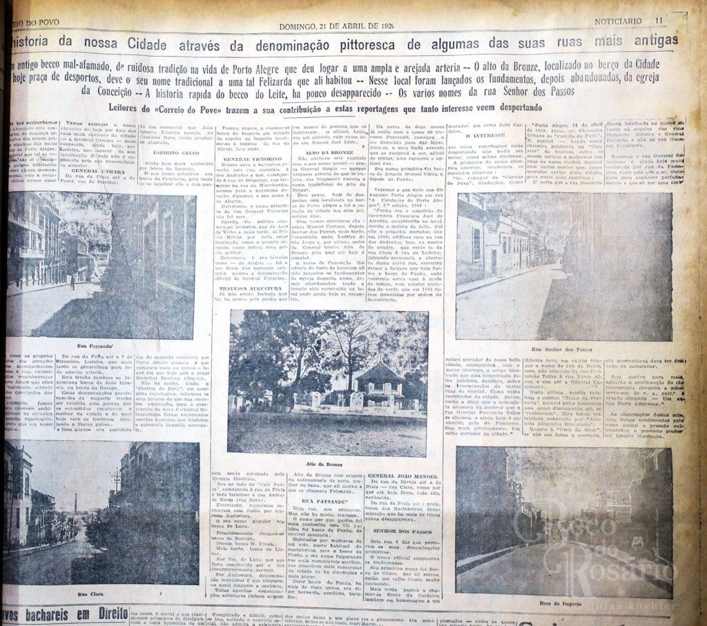 Correio do Povo, 21/4/1929, p. 11. Hemeroteca do AHMMV.