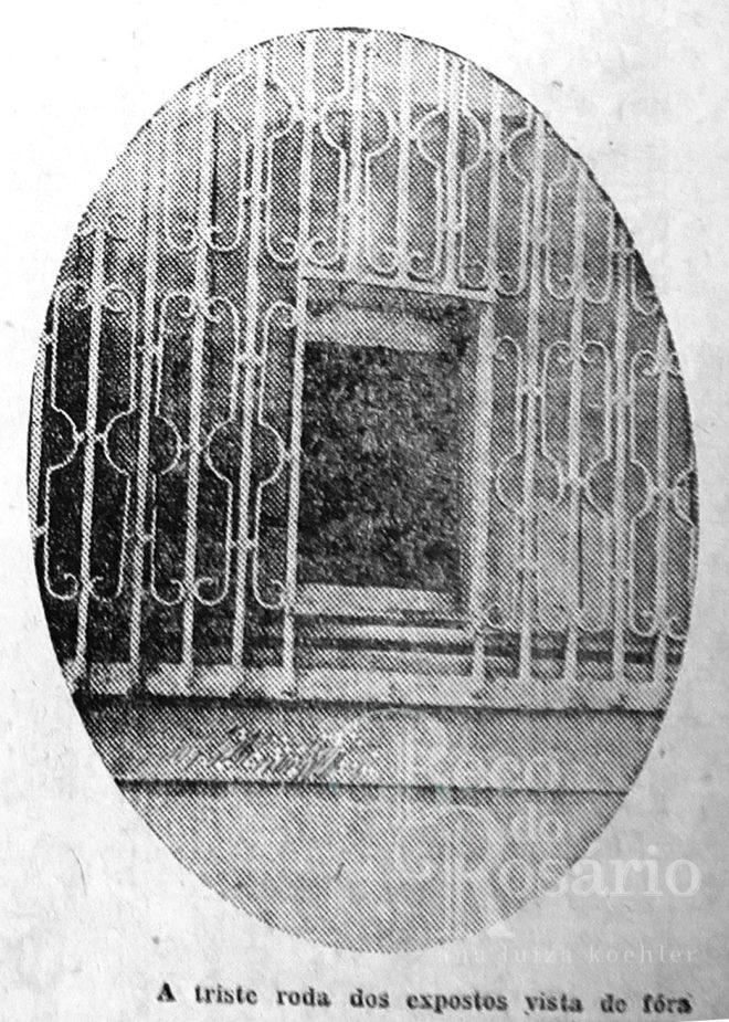 A roda dos expostos vista de fora. Correio do Povo, 23/4/1929, p. 5. Hemeroteca do AHMMV.