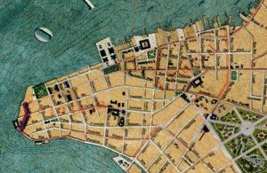 Detalhe da Planta de Porto Alegre de 1916 (IHGRGS) mostrando a rua General Salustiano em destaque.