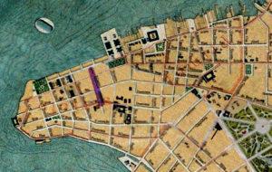 Planta de Porto Alegre de 1916. Mapoteca do IHGRGS. Em destaque, a localização da rua General João Manoel.