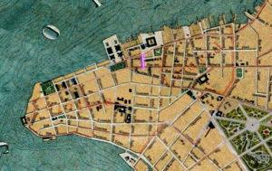 Detalhe da Planta de Porto Alegre de 1916 (IHGRGS) mostrando a rua Uruguai em destaque.