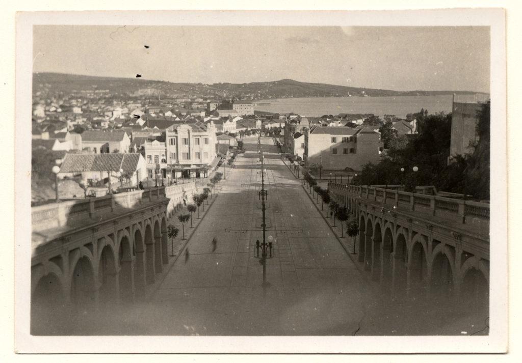 Avenida Borges de Medeiros, fotografia 4248f da Fototeca Sioma Breitman. Prov. 1940-1950.