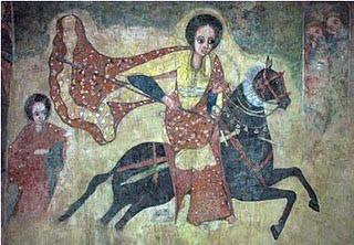 Rainha de Sabá, pintura cristã etíope.