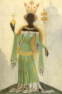 Rainha de Sabá, manuscrito de Bellifortis, 1405.