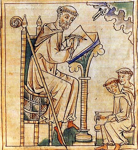 Bernardo de Clairvaux, fundador da ordem cisterciana.