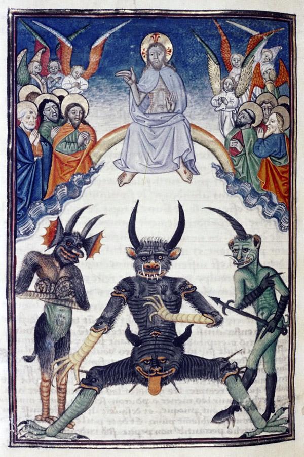 """Demônios em manuscrito medieval."""""""