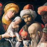 Adoração dos magos, de Andrea Mantegna. Séc. XV