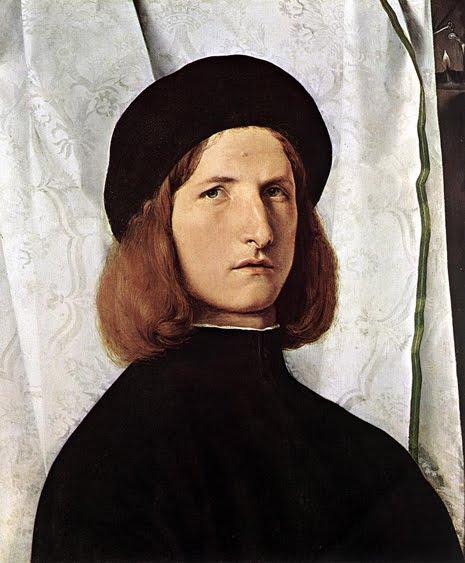 Jovem vestido de negro. Lorenzo Lotto, séc. XVI