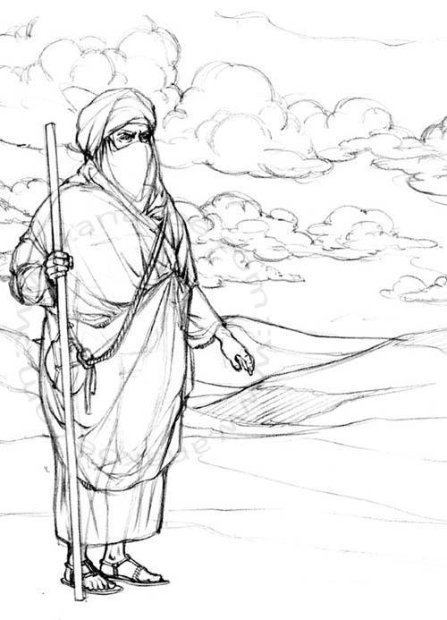 Awrah tome1, Nahil pencil study