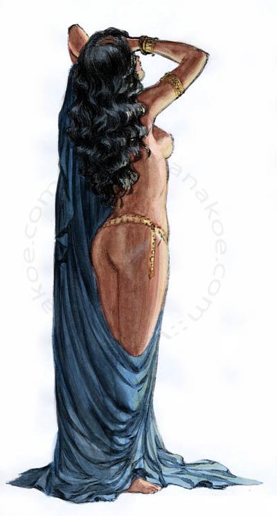 Awrah tome1, Nadia watercolor study