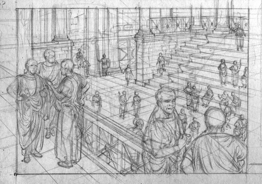 Carthage - Roman Curia sketch (3)
