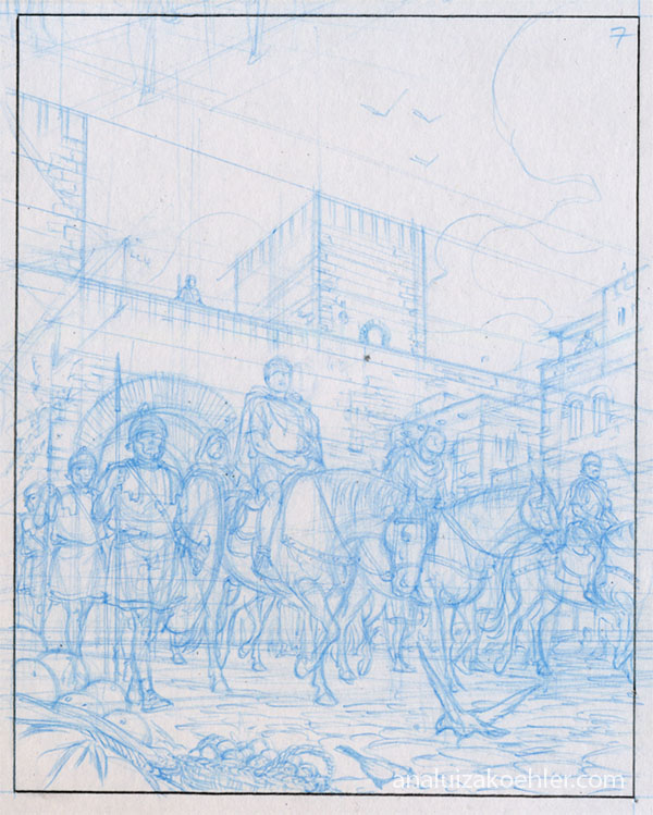Carthage, panel sketch of page 7 (2)