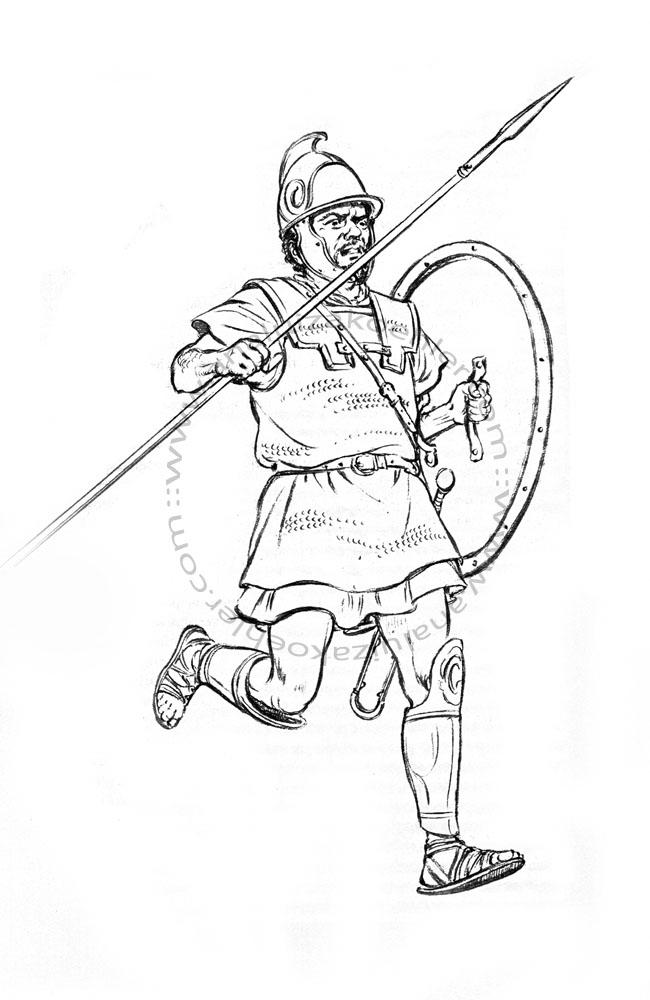 Carthage, Carthaginian infantryman, sketch