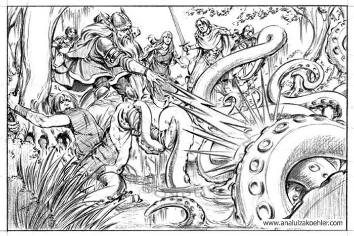 Book illustration for Midgard-Online Editions (WW04)