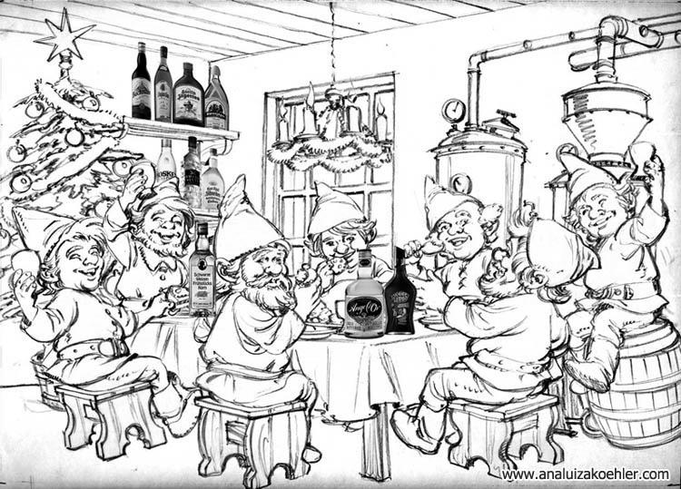 Schwarz & Schlichte Christmas card, sketch