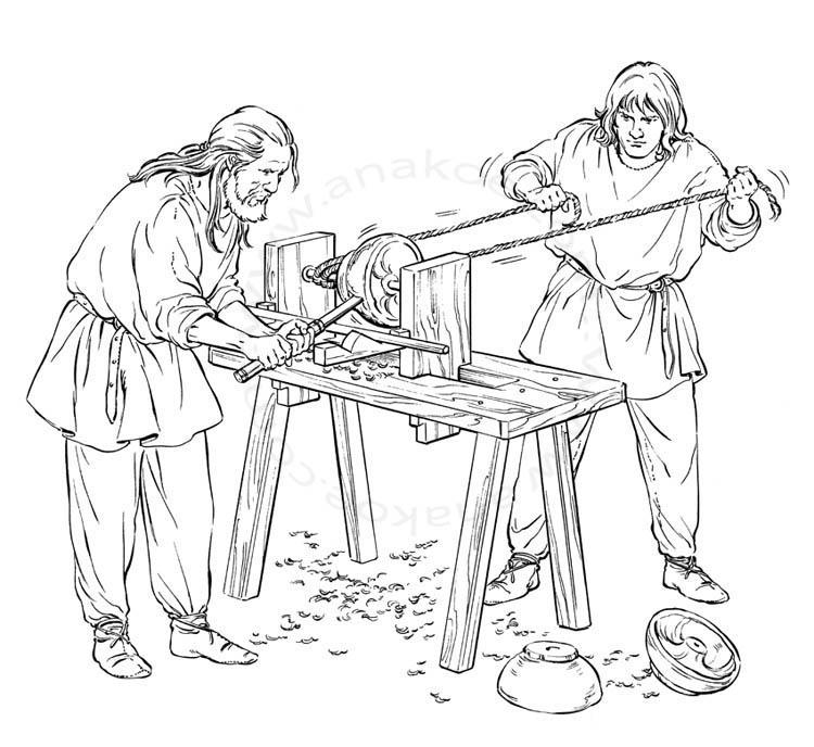 Wikinger-Museum Haithabu - Turning lathe (02)