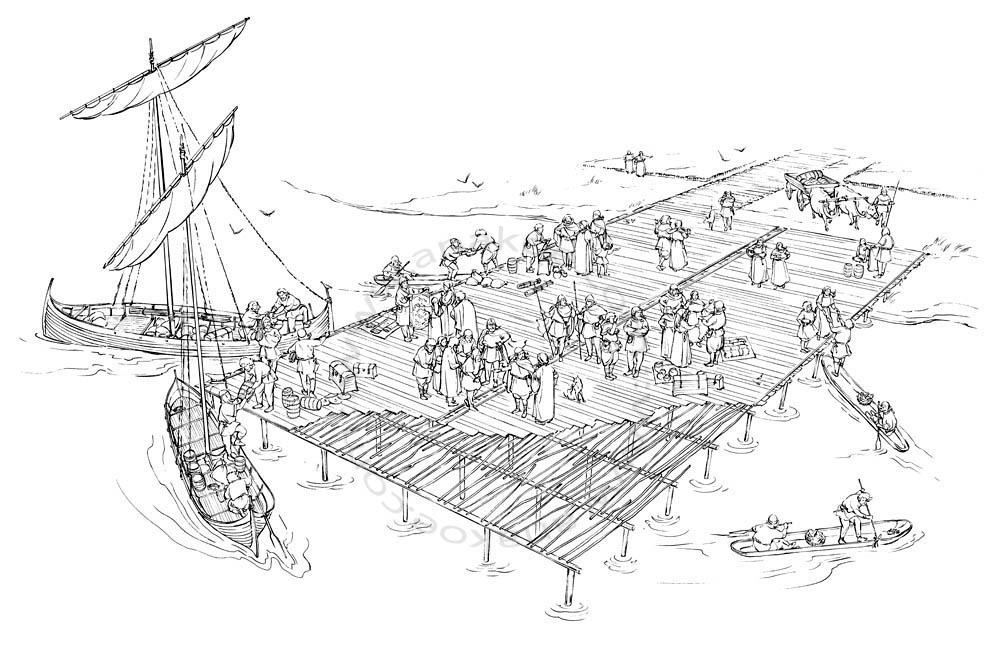 Wikinger-Museum Haithabu - harbor scene (09)