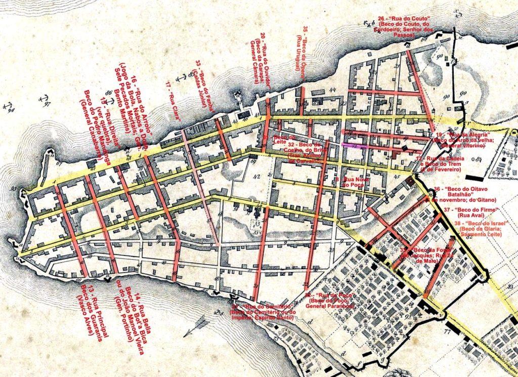 Detalhe da Planta de Porto Alegre de 1839